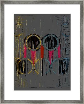 Grey Rings Framed Print