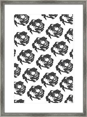 Grey Roses Framed Print by Cortney Herron