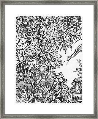 Grey Scale Abstract Framed Print by Mandy Shupp