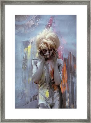 Grey Spring Falls 1 Framed Print by Filippo Ioco