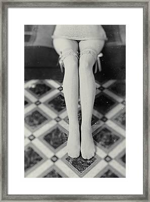 Grey Stockings #6477 Framed Print