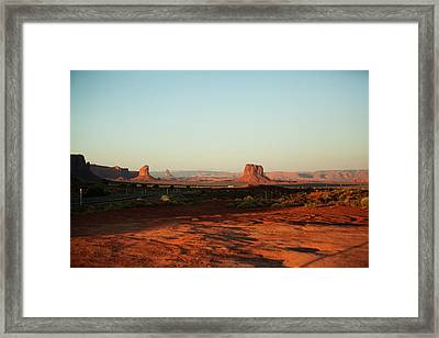 Grey Whiskers And Mitchell Butte Framed Print