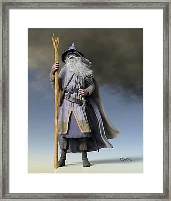Grey Wizard Framed Print by Dave Luebbert