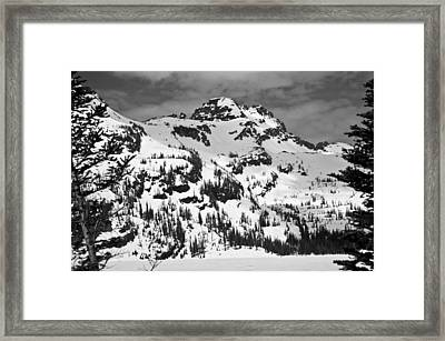 Grey Wolf Peak, Mission Mountains Framed Print