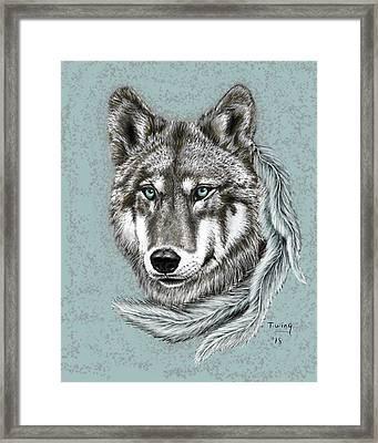 Grey Wolf Framed Print