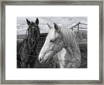 Greyboy And Apache Drawing Framed Print
