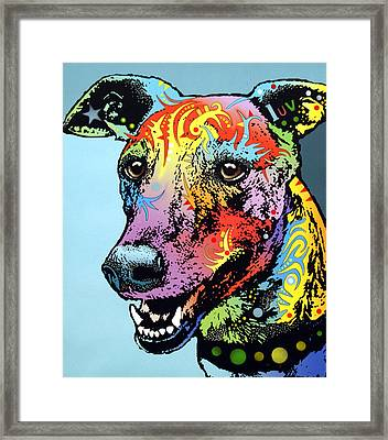 Greyhound Luv Framed Print