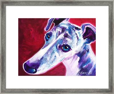 Greyhound - Myrtle Framed Print by Alicia VanNoy Call