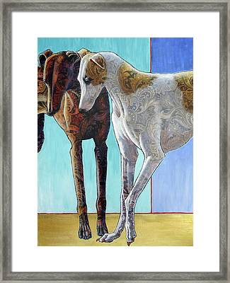 Paisley Paws De Deux Framed Print by Ande Hall