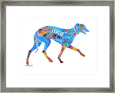 Greyhound Rescue Gffl Framed Print by Jo Lynch