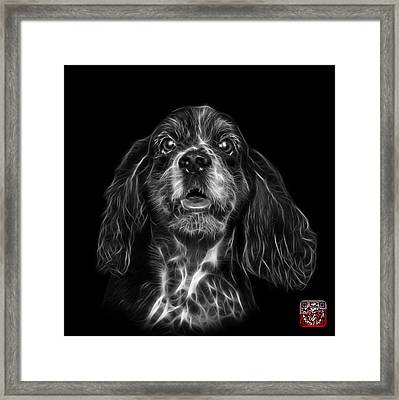 Greyscale Cocker Spaniel Pop Art - 8249 - Bb Framed Print