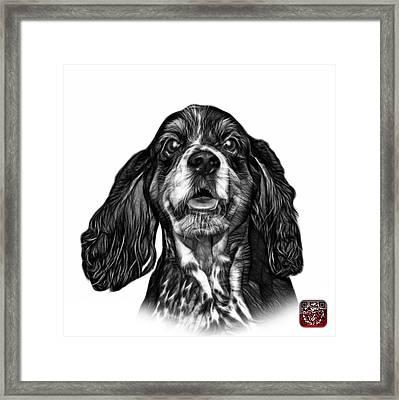 Greyscale Cocker Spaniel Pop Art - 8249 - Wb Framed Print