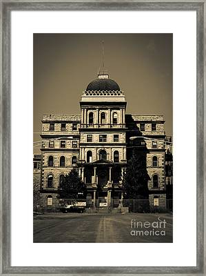 Greystone - Picking Up Or Dropping Off Framed Print by Jeffrey Miklush