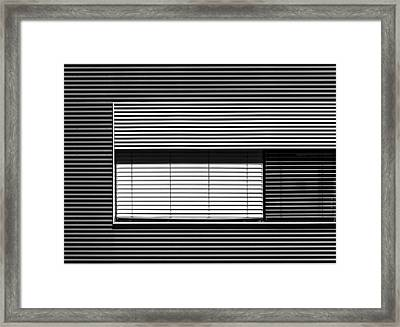 Greytone Horizontals Framed Print by Stefan Krebs