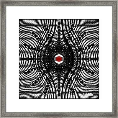 Grid Bent Star Framed Print by Diane Parnell