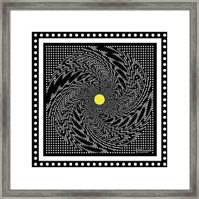 Grid Buzz Saw Framed Print