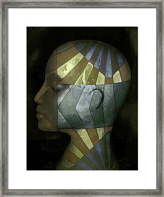 Grid Head Framed Print