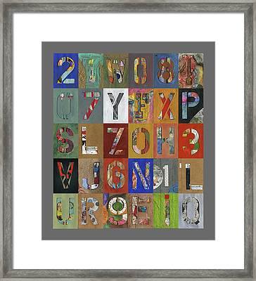 Grid Letters Framed Print