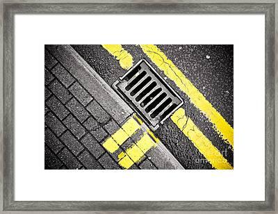 Grid Framed Print by Pete Edmunds