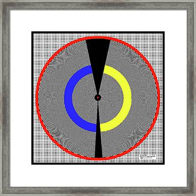 Grid Psychobilly Pie Framed Print by Diane Parnell
