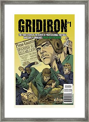 Gridiron # 1 Cover Framed Print by GREG LE DUC and RON RANDALL