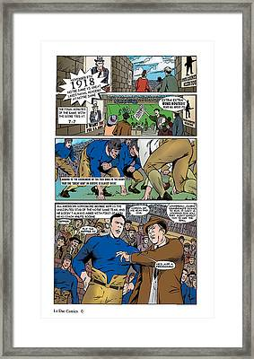 Gridiron The Beginning Page One Framed Print by Greg Le Duc Ron Randall