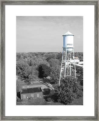 Gridley Framed Print