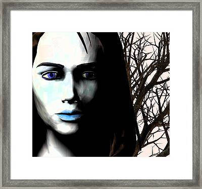 Grief And Depression, Conceptual Image Framed Print