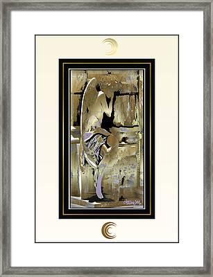 Grief Angel - Light Border Framed Print