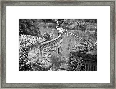 Griffin And The Dove Framed Print by Paul W Sharpe Aka Wizard of Wonders