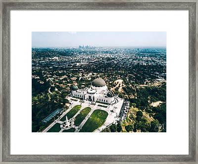 Griffith Observatory And Dtla Framed Print