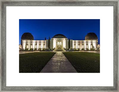 Griffith Observatory At Blue Hour Framed Print by John McGraw