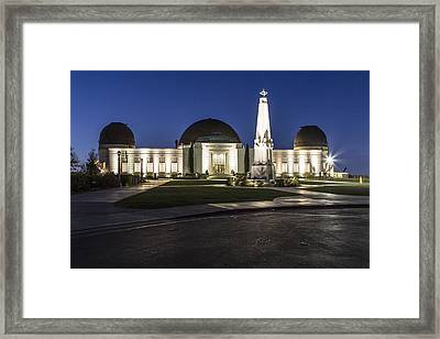 Griffith Observatory In La Framed Print by John McGraw