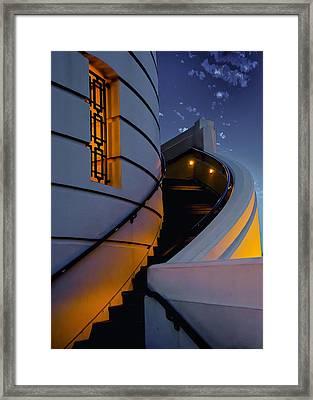 Griffith Observatory Side Entrance Framed Print by Joseph Hollingsworth
