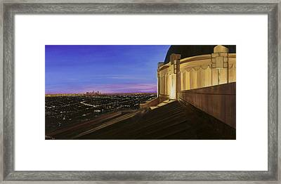Griffith Park Observatory Framed Print by Christopher Oakley