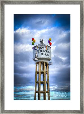 Grilld Chikin Dark Atlanta Billboard Framed Print by Reid Callaway