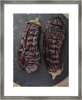 Grilled Aubergine Framed Print by Nailia Schwarz