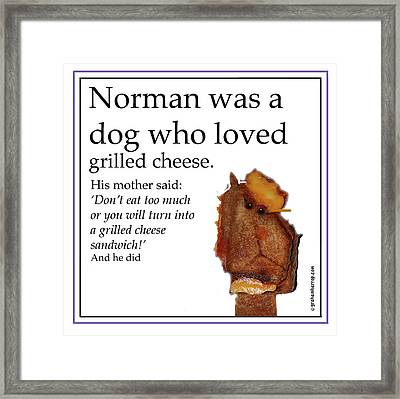 Grilled Cheese Dog Framed Print by Graham Harrop
