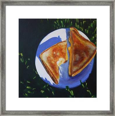 Grilled Cheese Please Framed Print by Sarah Vandenbusch