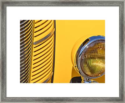 Grilled Chrome To Yellow Framed Print