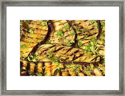 Grilled Eggplant With Dressing Framed Print by Patricia Hofmeester