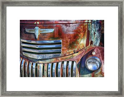 Grilling With Rust Framed Print