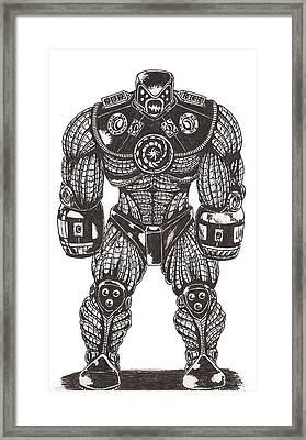 Grim Framed Print by Law Stinson