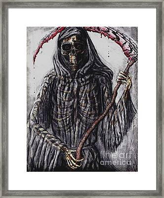 Grim Reaper Colored Framed Print by Katie Alfonsi