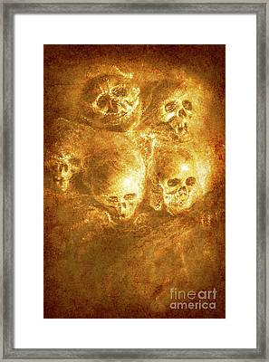 Grim Tales Of Burning Skulls Framed Print by Jorgo Photography - Wall Art Gallery