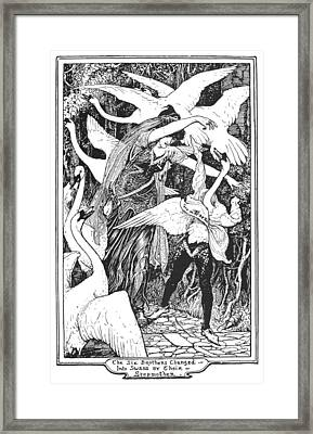 Grimm: The Six Swans Framed Print