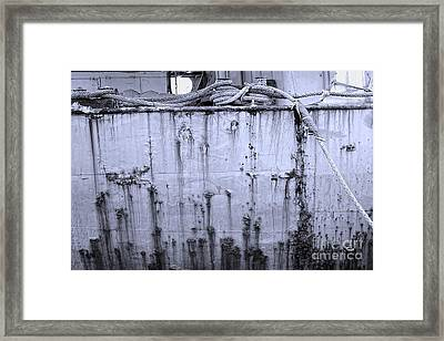 Framed Print featuring the photograph Grimy Old Ship Hull by Yali Shi
