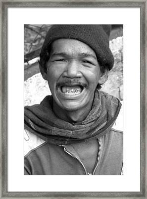 Grin And Bare It Framed Print by Jez C Self
