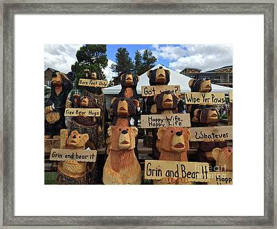 Grin And Bear It Framed Print by Beth Saffer