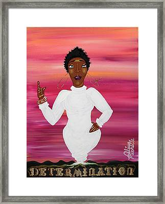 Grind Girl Rooted In Determination Framed Print by Aliya Michelle